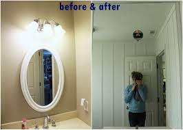 bathroom how to frame mirror hgtv installm with light in