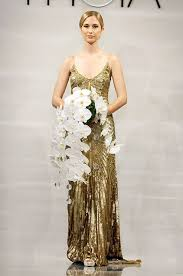 a gold art deco wedding dress from the theia fall 2014 bridal