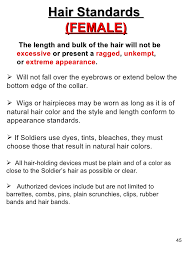 air force female hair standards oblc welcome book updated