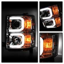 led lights for 2015 silverado chevy silverado 2014 2015 chrome projector headlights led drl