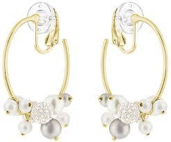 hoop clip on earrings hoop clip earrings multi colored gold plating