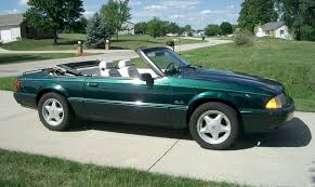 1990 mustang gt convertible value emerald green 1990 ford mustang 25th anniversary 7 up