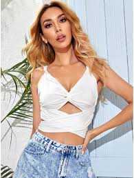 how to cut out the back of a cabinet buy cut out twist front tie back crop top topofstyle
