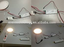 led battery light kit with inverter for emergency fluorescent