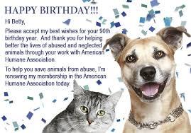 sign betty white s birthday card american humane association