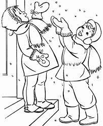 couple happy childrens cheering winter season snow