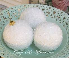 winter snowball ornaments free craft project holidays yes i