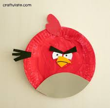 angry birds paper plates craftulate