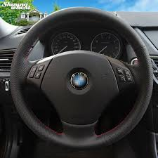 bmw 325i steering wheel aliexpress com buy shining wheat black genuine leather car