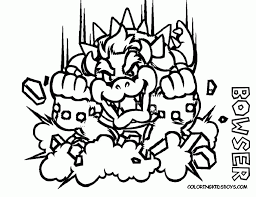 dry bowser coloring pages coloring