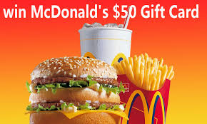 fast food gift cards free 50 mcdonald gift card free stuff sles