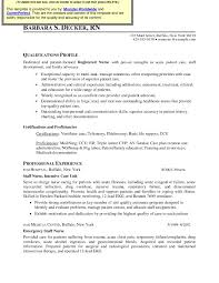 registered resume exles sle resume for registered in canada best of icu rn resume