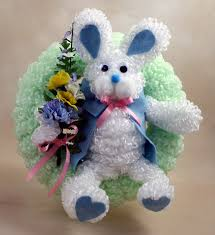 chenille easter diy loopy chenille bunny wreath easter wreaths