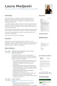 Undergraduate Resume Sample For Internship by Public Relations Resume Samples Visualcv Resume Samples Database