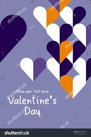 happy valentines day love elements modern stock vector 570125062