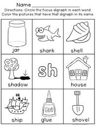 sh word family worksheets u0026 sh consonant blend enchanted learning