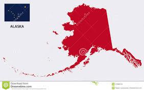 Kodiak Alaska Map by Alaska Map With Flag Stock Vector Image 47889105