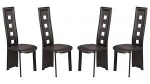 chaise pas cher chaise en pvc noir lot de 4 pas cher chaise design