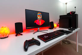 Gaming Desk Setups by Gaming U0026 Photo Editing Station Bestgamesetups Com Pinterest