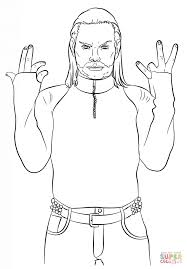 jeff hardy coloring pages wwe jeff hardy coloring page free