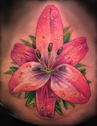 stargazer lilies tattoo on waist for girls all tattoos for men