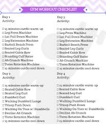 Bench Press For Beginners Beginner Gym Workout For Women Free Printable