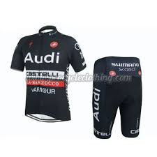 audi cycling jersey 2015 team audi pro apparel cycle jersey and shorts black