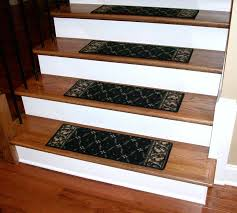 stair stair design idea with red oak wood treads combine with