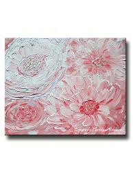 giclee print art abstract pink peony painting peonies flowers