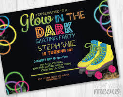 neon skate party etsy