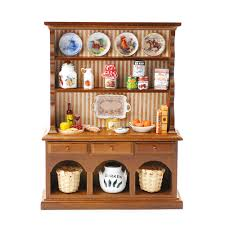 rp17452 kitchen hutch with country style dishes minimum world
