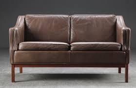 retro leather sofas vintage retro danish borge mogensen style 2 seater leather sofa