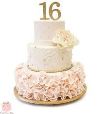 sweet 16 cakes sweet 16 ruffle cake sweet 16 cakes