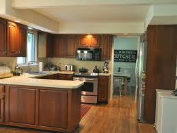 kitchen cabinet amusing solid wood kitchen brown color u shape