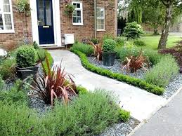 Garden Ideas For Front Of House Landscaping Front House Ideas White Stones Simple Front House