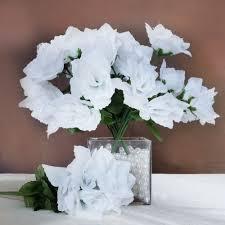 Wholesale Floral Centerpieces by 168 Silk Open Roses Wedding Bouquets Flowers Centerpieces
