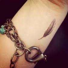 cute collar bone tattoos nice feather collarbone tattoo fashion for girls real photo
