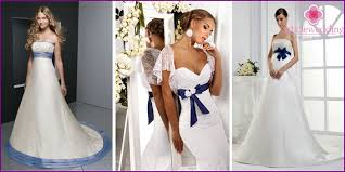 wedding dress with a blue belt beautiful styles and models with