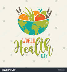 world health day global bowl food stock vector 595094624