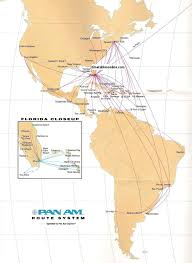 Alaska Air Route Map by Airline Timetables Pan Am October 1991
