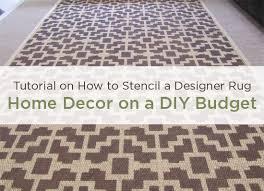 home decor stencil tutorial diy designer rug stencil stories