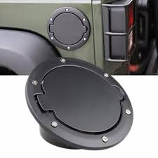 gas cap light jeep black powder coated steel gas fuel tank gas cap cover accessories