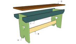 Simple Outdoor Bench Seat Plans by Simple Bench Plans Howtospecialist How To Build Step By Step