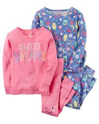 4 sweet dreams snug fit cotton pjs carters