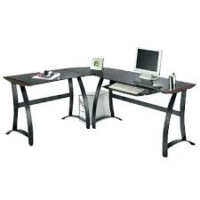 Glass And Wood Computer Desk Glass And Metal X Frame Corner Computer Desk Black Tag Appealing