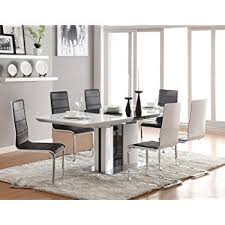 White Dining Table Creditrestoreus - White and black dining table