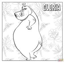 gloria the hippopotamus coloring page free printable coloring pages