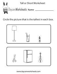 measurement worksheets for kindergarten koogra
