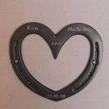 sixth wedding anniversary gift thoughtful gift with horseshoe initials and can be engraved