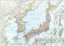Nat Geo Maps File National Geographic Map Of Korea And Japan 1945 Jpg